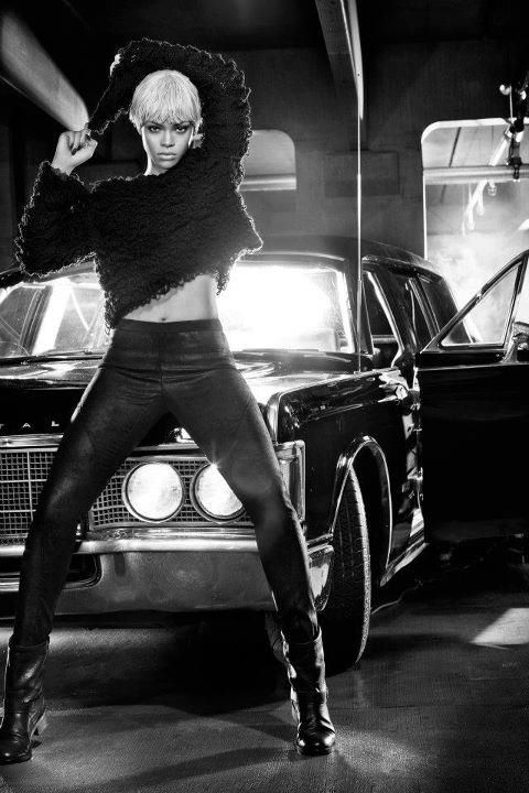 Rihanna for Armani Jeans Fall 2011 ad campaign shot by Steven Klein