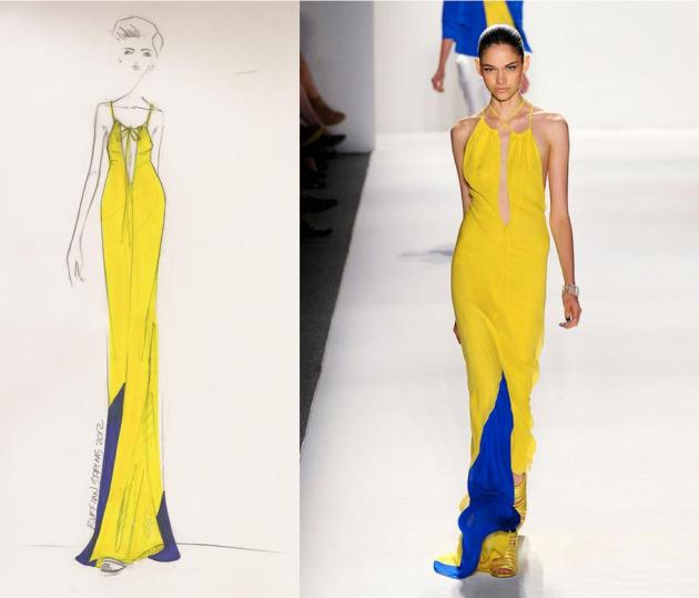 Long yellow dress from the Ruffian Spring 2012 collection