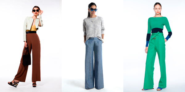 Wide-legged pants by Vena Cava, J Crew, and Jenni Kayne