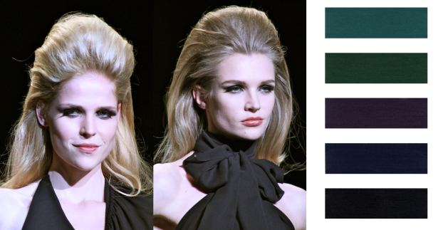Ultra-black raven inky color is a hot trend for Fall 2011 Beauty