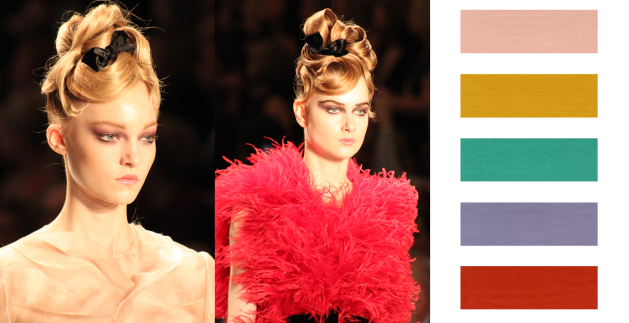 Ultra-feminine, pastel tones are a hot trend for Fall 2011 Beauty