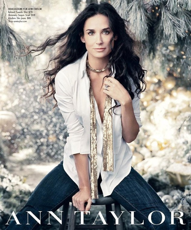 demi moore for ann taylor holiday 2011 ad campaign