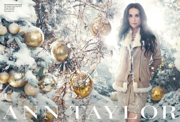 demi moore for ann taylor 2011 holiday