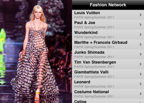 Fashion Network Original ipod and ipad app