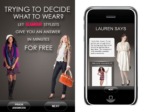 GLAMOUR Magazine fashion app Ask a Stylist