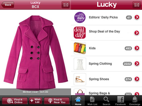 lucky-at-your-service fashion app for ipad and iphone