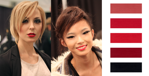Heavily textured and profoundly RED lipsticks are a hot trend for Fall 2011 Beauty