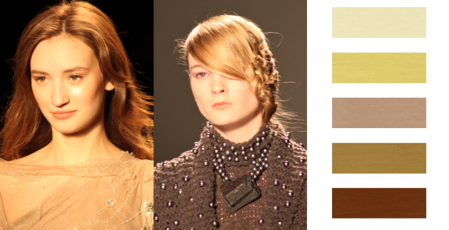 organic colors such as whites and beiges for barely there make-up is a hot trend for Fall 2011 Beauty