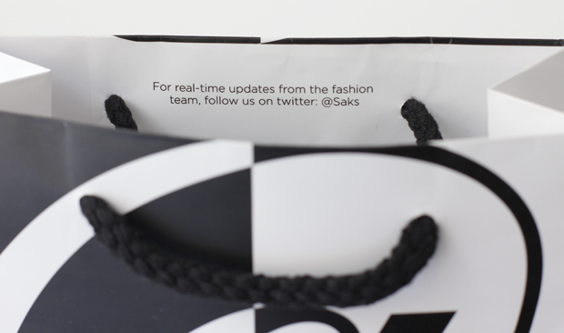 Saks Social Media Ad campaign with @ symbol