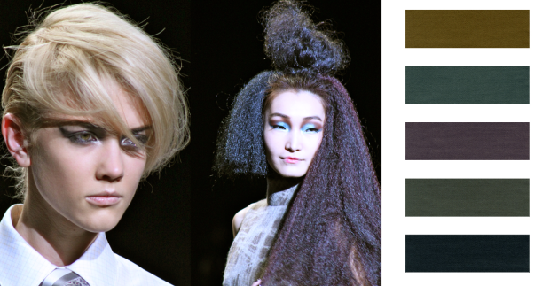 Different tones of grey is a hot trend for Fall 2011 Beauty