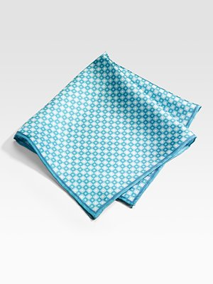 Saks Fifth Avenue Men's Collection Silk Pocket Square/Squares holiday gift guide under $50 for men