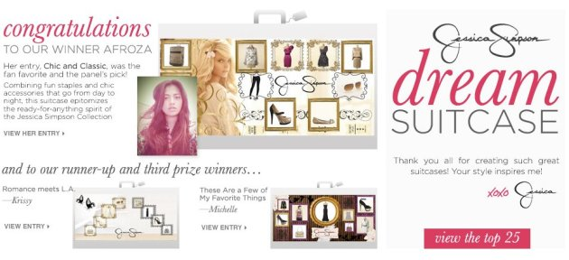Jessica Simpson Dream Suitcase Contest powered by Shop My Label, winner announced
