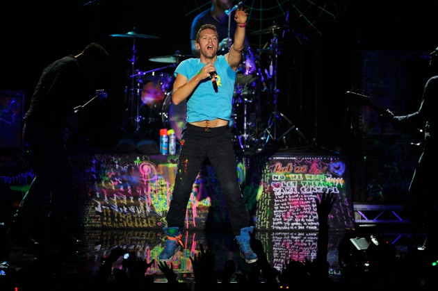 Chris Martin of Coldplay performs at the MTV Europe Music Awards 2011 - Show