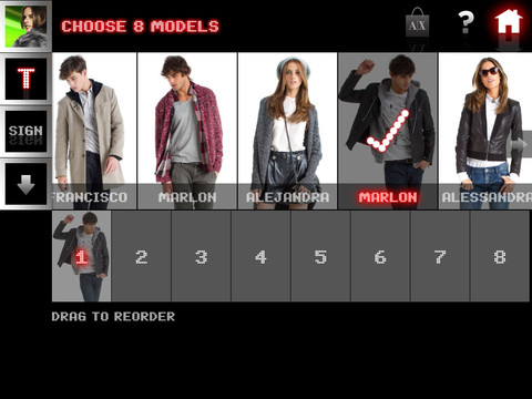 A X Armani Exchange app for the iPhone iPad and iPod touch