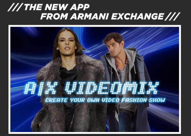A|X Armani Exchange app for the iPhone iPad and iPod touch