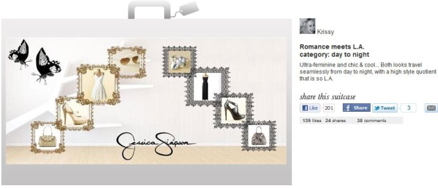 2nd place winner for the Jessica Simpson Dream Suitcase Contest, Powered by Shop My Label