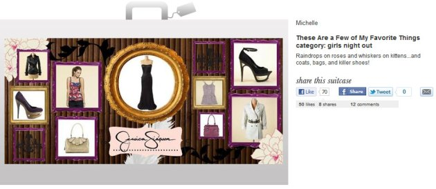 3rd place winner for the Jessica Simpson Dream Suitcase Contest, Powered by Shop My Label