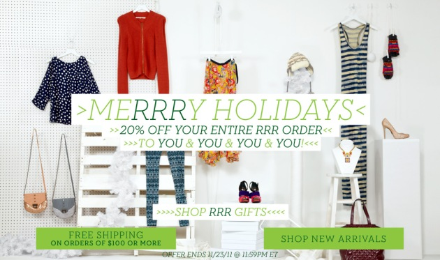 Rachel Rachel Roy holiday sales