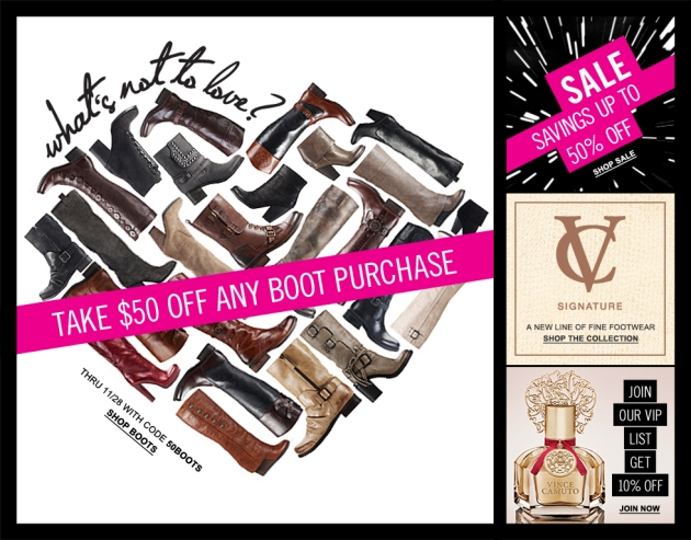 Vince Camuto Holiday Boots Retail Sale