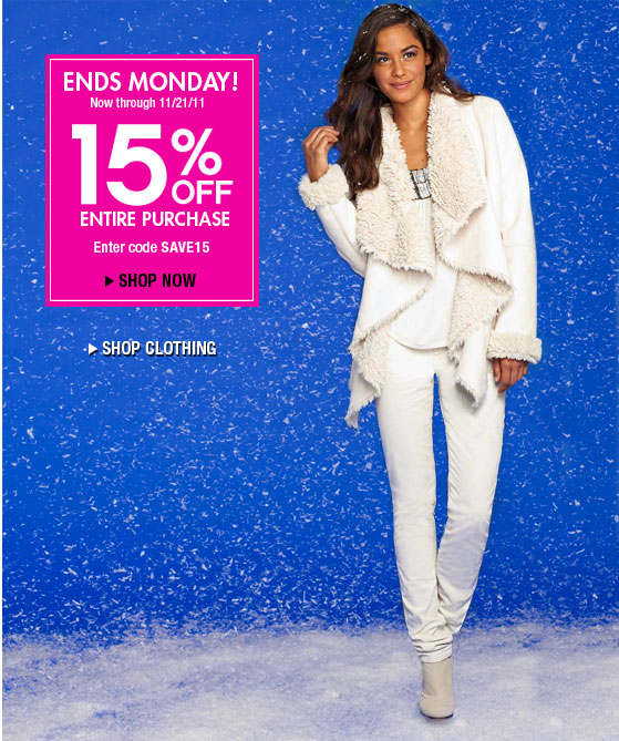 ALLOY holiday 15 percent off holiday retail sales