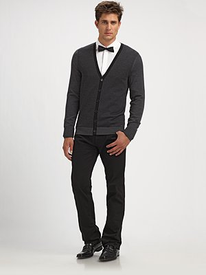 Hugo Wool Cardigan holiday looks for men