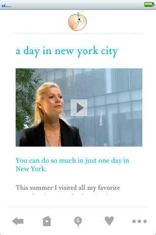Gwyneth Paltrow GOOP Newsletter App