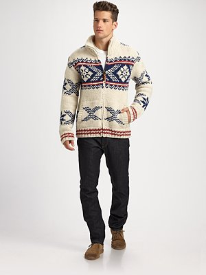 scotch and soda hand knit wool sweater holiday look for men on shop my label