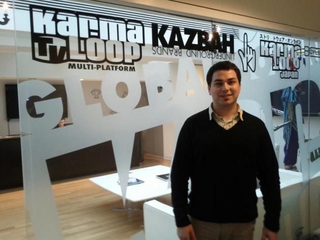 Alex Mansi at the Karmaloop Headquarters in Boston MA