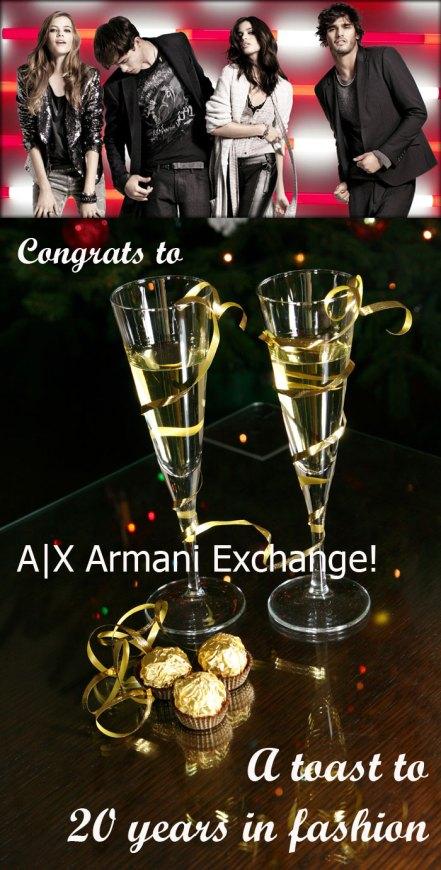 A X Armani Exchange 20 year anniversary