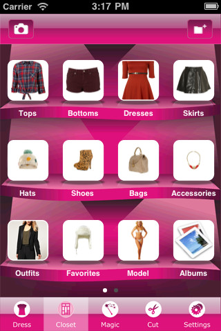 beauty closet apple ipod ipad app