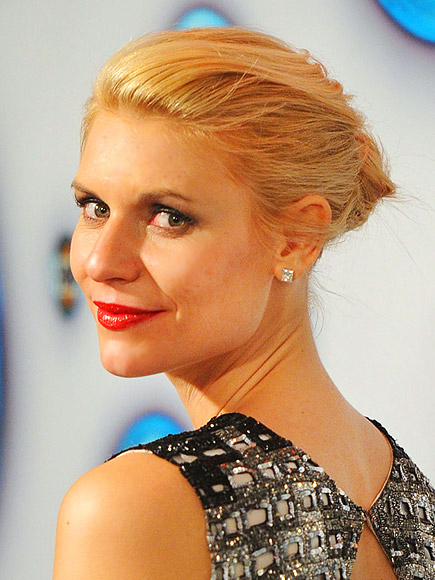Claire Danes at the 2012 Golden Globe Awards