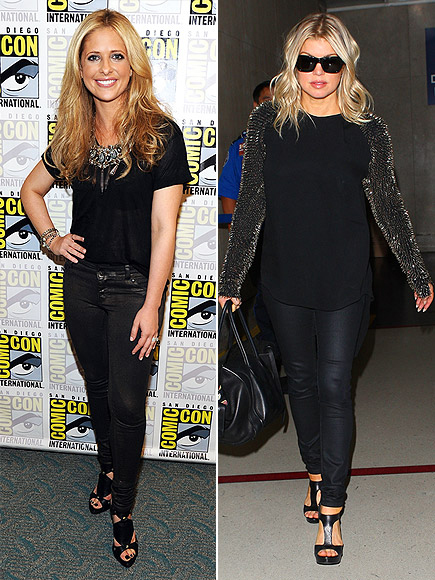 fergie and sarah michelle wearing DL1961 jeans