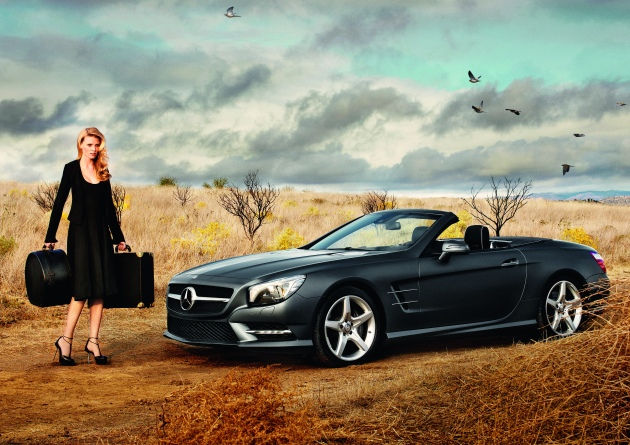 Lara Stone for Mercedes-Benz Fashion Week ad campaign photographed by Alex Prager