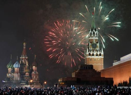 2012 New Year's Celebration in Moscow, Russia