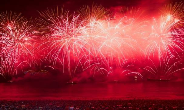 2012 New Year's Celebration in Copacabana Beach