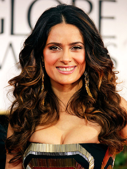 Salma Hayek in Guuci at the 2012 Golden Globe Awards