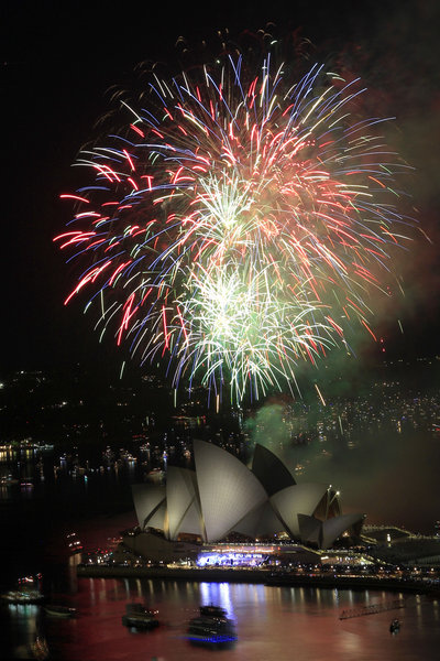 2012 New Year's Celebration at the Sydney Opera House in Australia