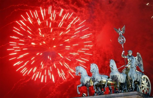 2012 New Year's Celebration at the Brandenburg Gate in Berlin